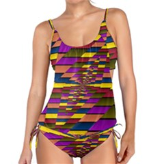 Autumn Check Tankini Set