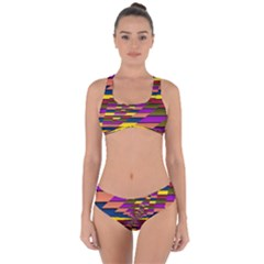 Autumn Check Criss Cross Bikini Set