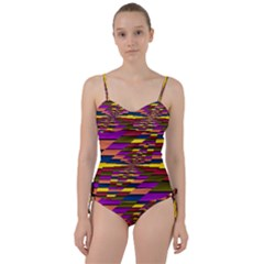 Autumn Check Sweetheart Tankini Set