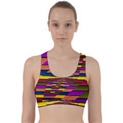 Autumn Check Back Weave Sports Bra