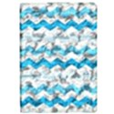 Baby Blue Chevron Grunge Apple iPad Pro 12.9   Flip Case View1