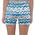 Baby Blue Chevron Grunge Sleepwear Shorts View2