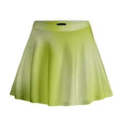 Green Soft Springtime Gradient Mini Flare Skirt