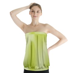 Green Soft Springtime Gradient Strapless Top