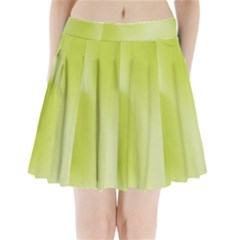 Green Soft Springtime Gradient Pleated Mini Skirt