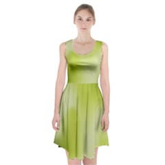 Green Soft Springtime Gradient Racerback Midi Dress
