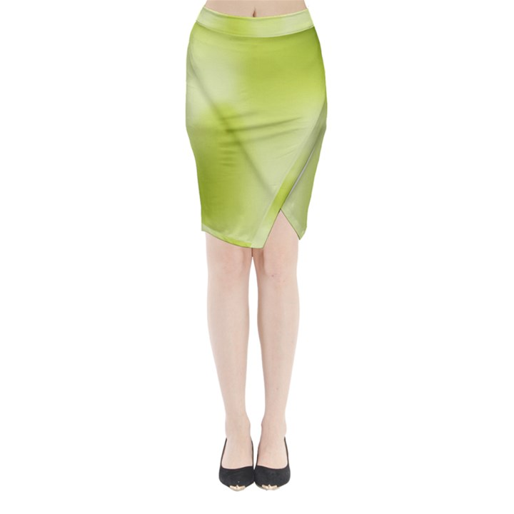 Green Soft Springtime Gradient Midi Wrap Pencil Skirt