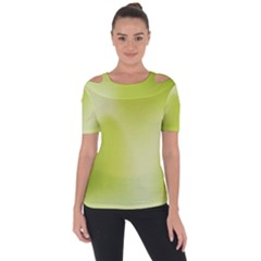 Green Soft Springtime Gradient Short Sleeve Top