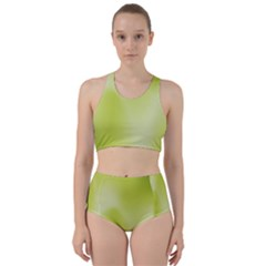 Green Soft Springtime Gradient Bikini Swimsuit Spa Swimsuit