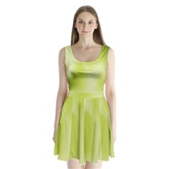 Green Soft Springtime Gradient Split Back Mini Dress