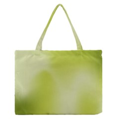 Green Soft Springtime Gradient Zipper Medium Tote Bag