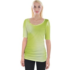 Green Soft Springtime Gradient Wide Neckline Tee