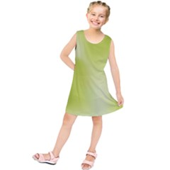 Green Soft Springtime Gradient Kids  Tunic Dress