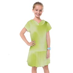 Green Soft Springtime Gradient Kids  Drop Waist Dress