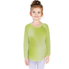 Green Soft Springtime Gradient Kids  Long Sleeve Tee