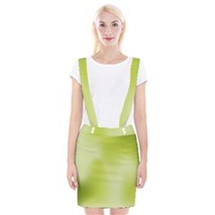 Green Soft Springtime Gradient Braces Suspender Skirt
