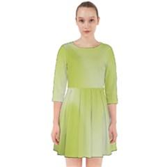 Green Soft Springtime Gradient Smock Dress