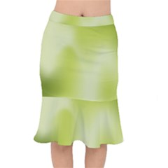 Green Soft Springtime Gradient Mermaid Skirt