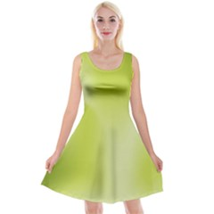 Green Soft Springtime Gradient Reversible Velvet Sleeveless Dress