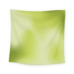 Green Soft Springtime Gradient Square Tapestry (small)