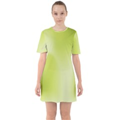 Green Soft Springtime Gradient Mini Dress