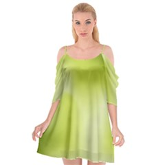 Green Soft Springtime Gradient Cutout Spaghetti Strap Chiffon Dress