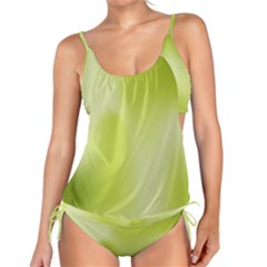 Green Soft Springtime Gradient Tankini Set