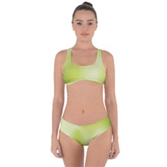 Green Soft Springtime Gradient Criss Cross Bikini Set