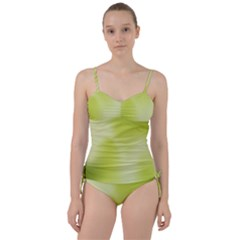 Green Soft Springtime Gradient Sweetheart Tankini Set