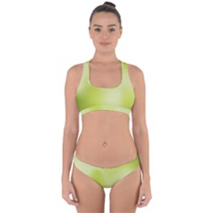 Green Soft Springtime Gradient Cross Back Hipster Bikini Set
