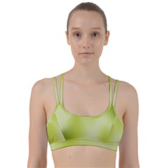 Green Soft Springtime Gradient Line Them Up Sports Bra