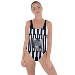 Black Stripes Endless Window Bring Sexy Back Swimsuit