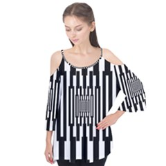 Black Stripes Endless Window Flutter Tees