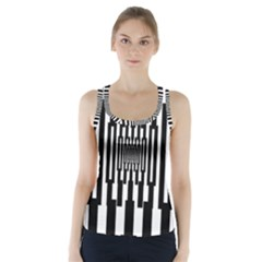 Black Stripes Endless Window Racer Back Sports Top