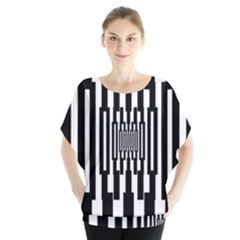 Black Stripes Endless Window Blouse