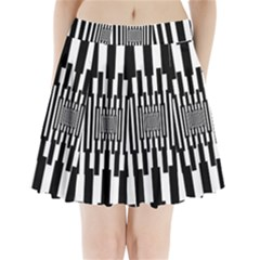 Black Stripes Endless Window Pleated Mini Skirt