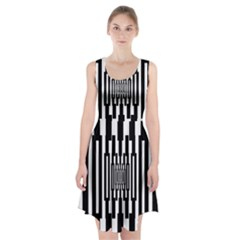 Black Stripes Endless Window Racerback Midi Dress