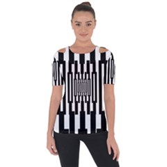 Black Stripes Endless Window Short Sleeve Top