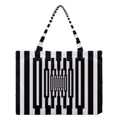Black Stripes Endless Window Medium Tote Bag