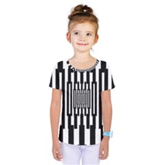 Black Stripes Endless Window Kids  One Piece Tee