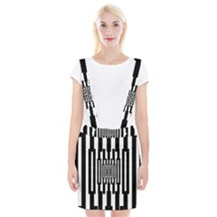 Black Stripes Endless Window Braces Suspender Skirt