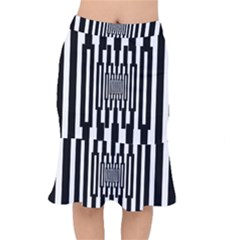 Black Stripes Endless Window Mermaid Skirt
