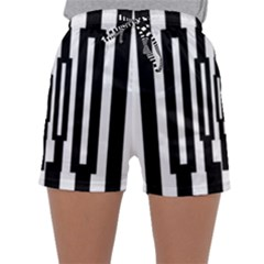 Black Stripes Endless Window Sleepwear Shorts