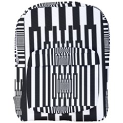 Black Stripes Endless Window Full Print Backpack