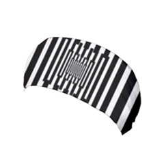 Black Stripes Endless Window Yoga Headband