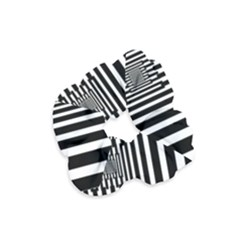 Black Stripes Endless Window Velvet Scrunchie