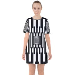 Black Stripes Endless Window Mini Dress