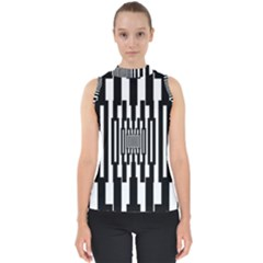 Black Stripes Endless Window Shell Top