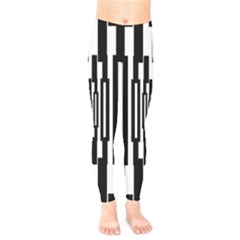 Black Stripes Endless Window Kids  Legging