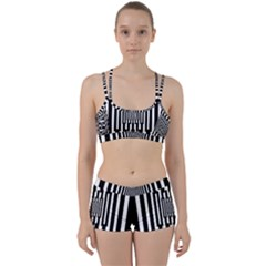 Black Stripes Endless Window Women s Sports Set